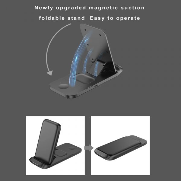 3-in-1 Fast Charging Wireless Charging Station for Qi Devices_6