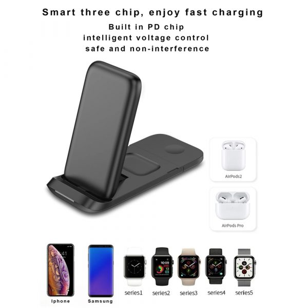 3-in-1 Fast Charging Wireless Charging Station for Qi Devices_9