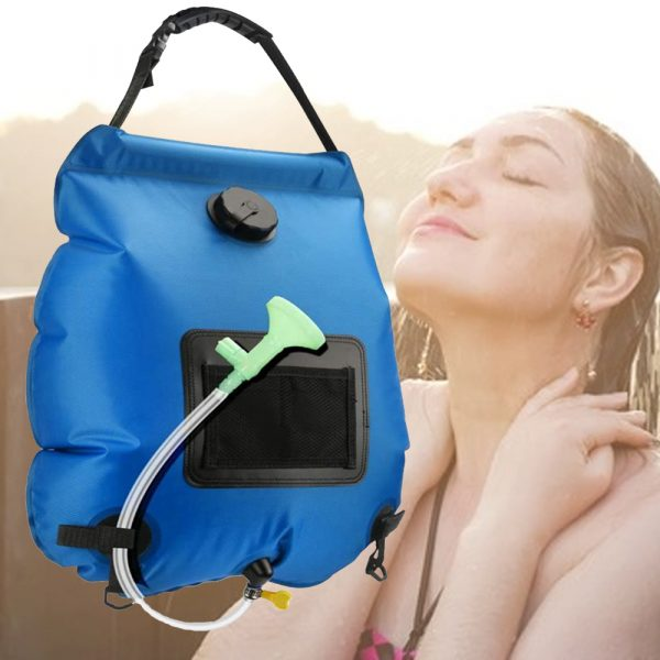 20L Outdoor Camping Hiking Portable Water Storage Shower Bag_5