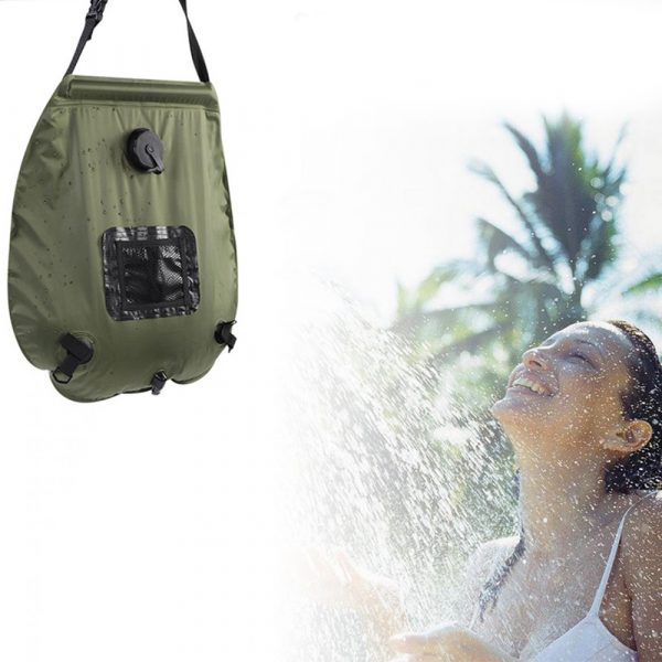 20L Outdoor Camping Hiking Portable Water Storage Shower Bag_7