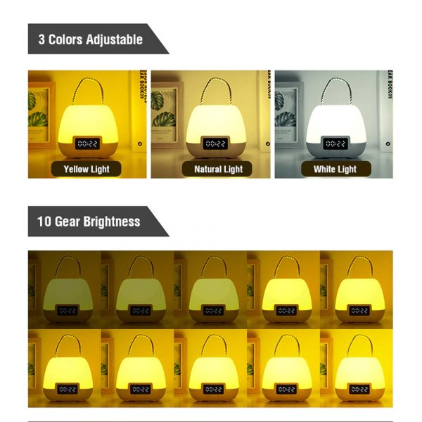 Remote Controlled USB Rechargeable Hanging Bedside Lamp_6