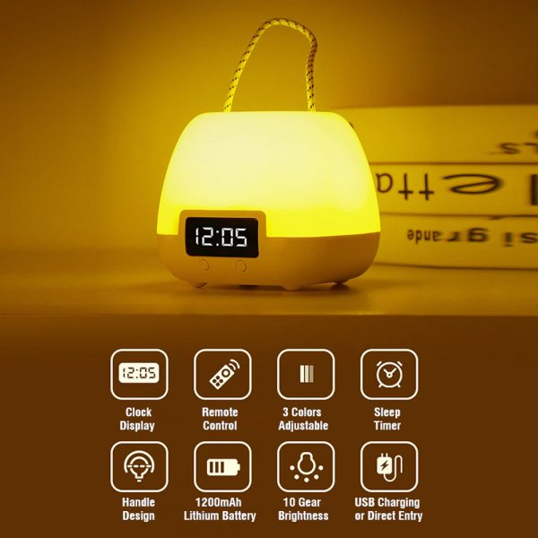 Remote Controlled USB Rechargeable Hanging Bedside Lamp_7