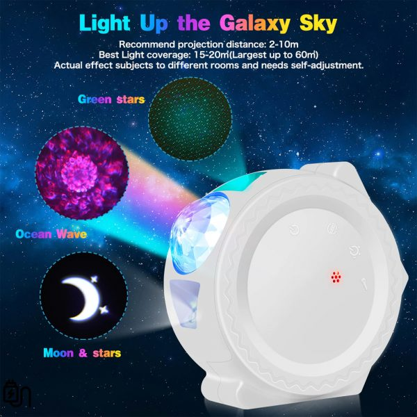 360° Rotation LED Star Light Galaxy Projector and Night Lamp_3