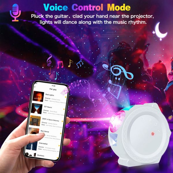 360° Rotation LED Star Light Galaxy Projector and Night Lamp_4