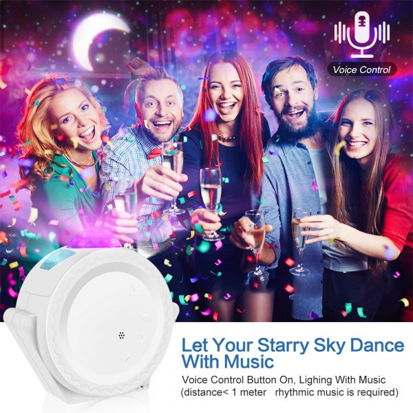 360° Rotation LED Star Light Galaxy Projector and Night Lamp_7