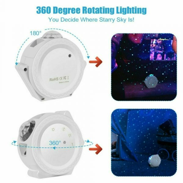 360° Rotation LED Star Light Galaxy Projector and Night Lamp_8