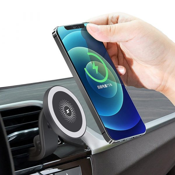 15W Wireless Car Air Vent Charger for QI Enabled Devices_4