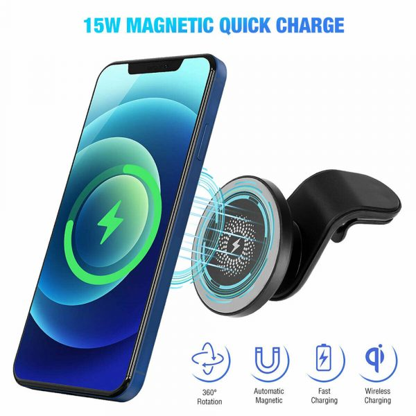 15W Wireless Car Air Vent Charger for QI Enabled Devices_6