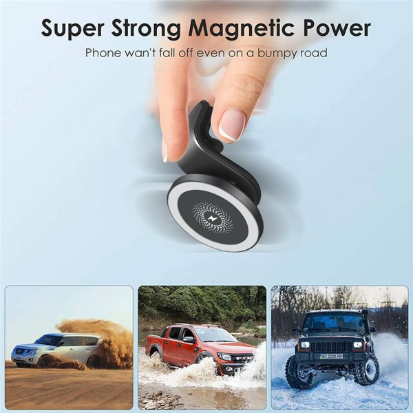 15W Wireless Car Air Vent Charger for QI Enabled Devices_14