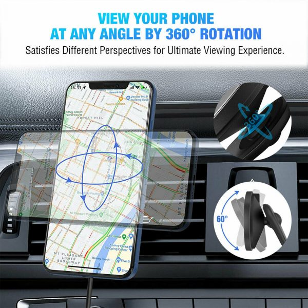 15W Wireless Car Air Vent Charger for QI Enabled Devices_8
