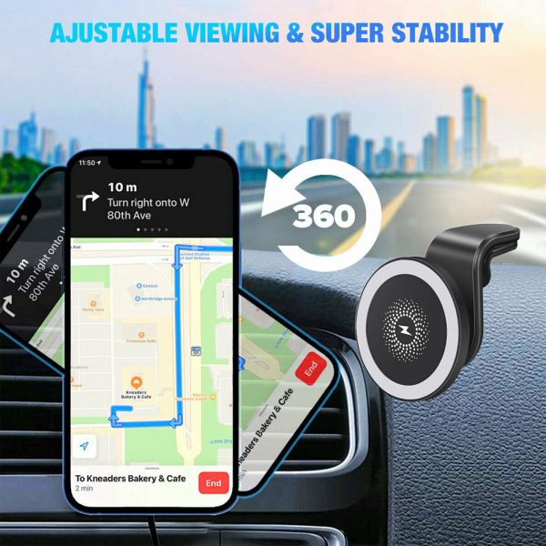 15W Wireless Car Air Vent Charger for QI Enabled Devices_10