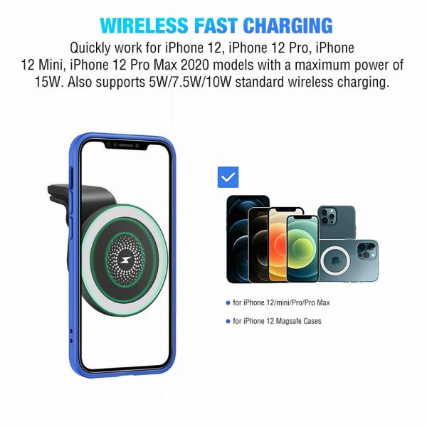 15W Wireless Car Air Vent Charger for QI Enabled Devices_11