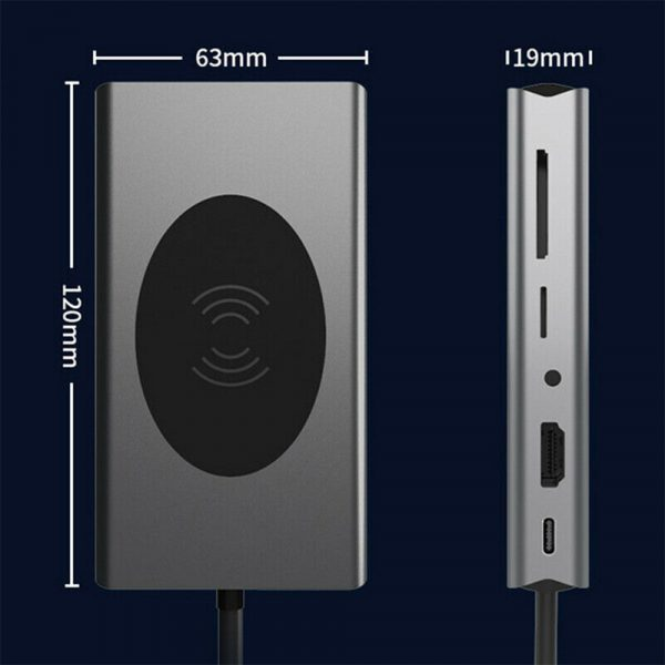 13-in-1 Multifunctional Docking Hub and Wireless Charging Station_13