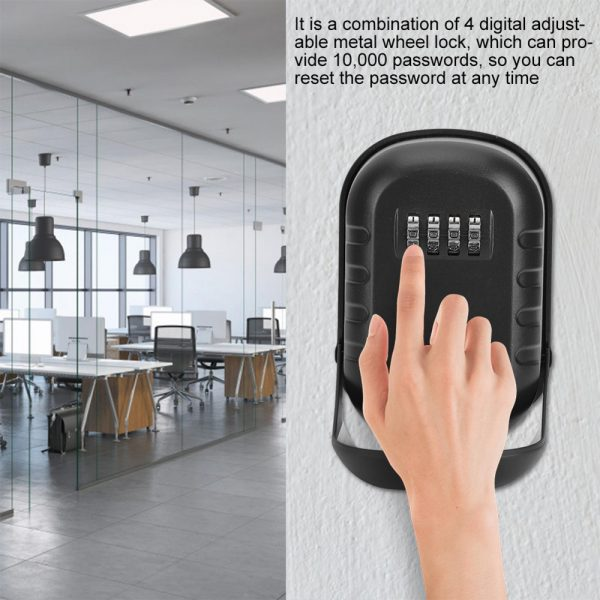 4 Digit Combination Wall Mounted Key Safe Box and Vault_12