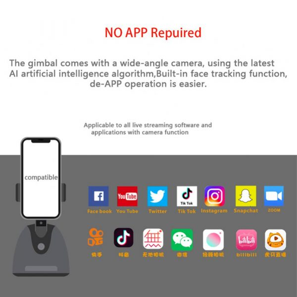 360° Object Tracking Battery Operated Mobile Phone Holder_10