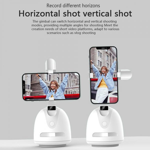 360° Object Tracking Battery Operated Mobile Phone Holder_8