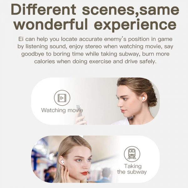 Wireless Earbud in-Ear Earphones with Charging Case and Mic_15