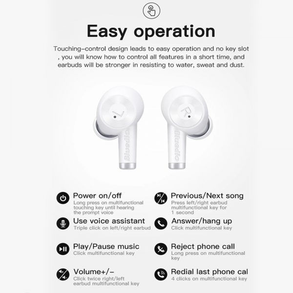 Wireless Earbud in-Ear Earphones with Charging Case and Mic_9
