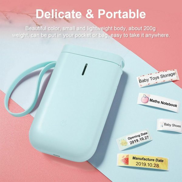 D11 Portable Wireless Thermal Inkless Bluetooth Label Printer_8