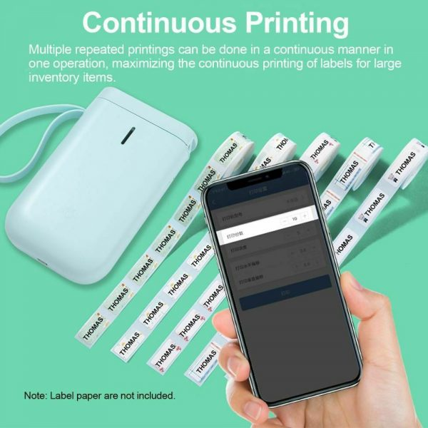 D11 Portable Wireless Thermal Inkless Bluetooth Label Printer_11