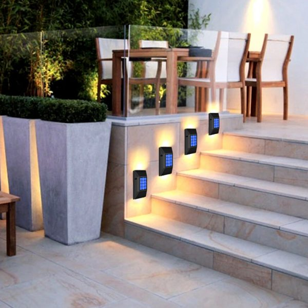 2pc/set LED Outdoor Garden Solar Powered LED Wall Lamps_3