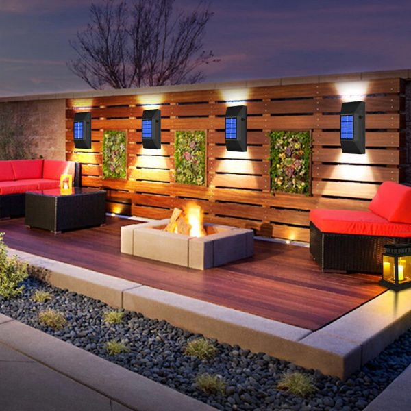 2pc/set LED Outdoor Garden Solar Powered LED Wall Lamps_6