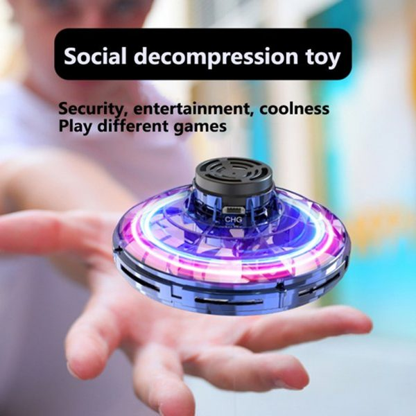 Interactive Flying Gyro Decompression UFO Children's Toy_11