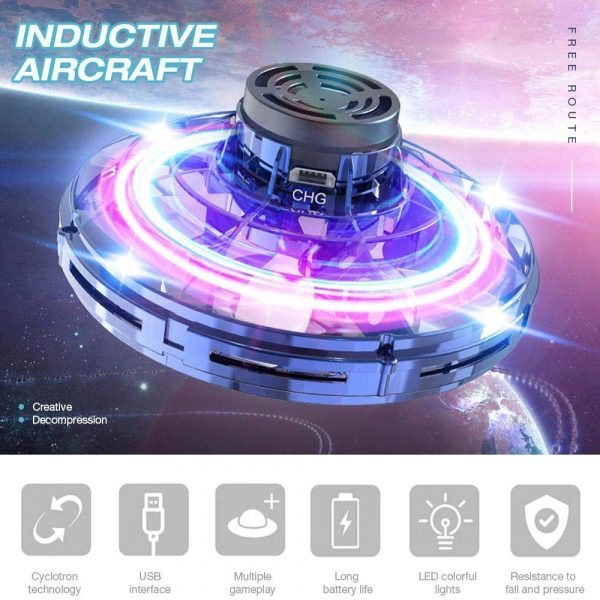 Interactive Flying Gyro Decompression UFO Children's Toy_7
