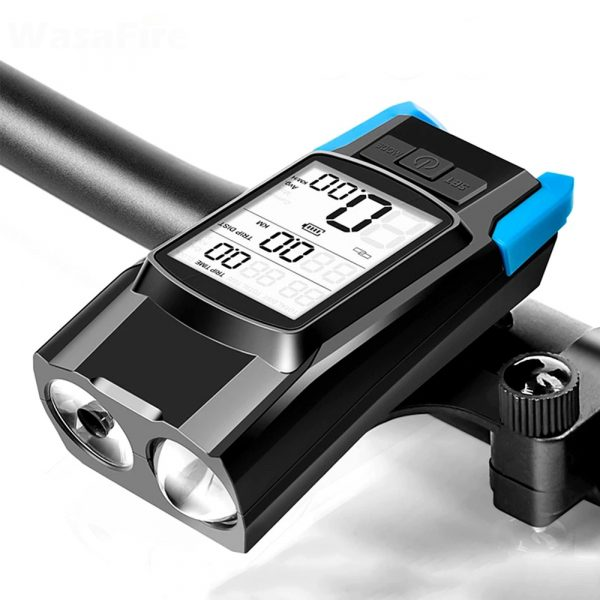 3-in-1 Bicycle Speedometer Rechargeable T6 LED Bike Light_0