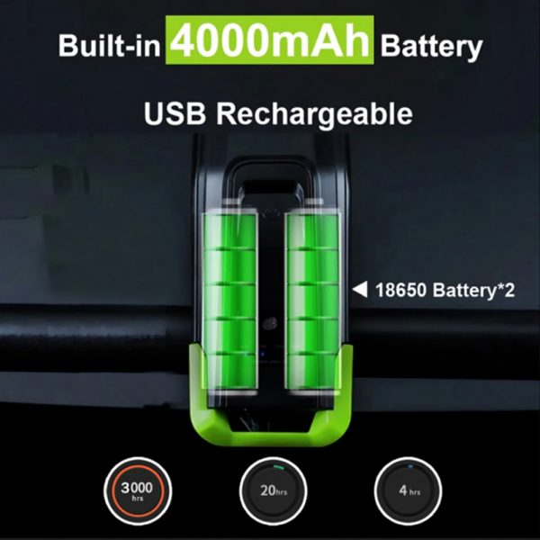 3-in-1 Bicycle Speedometer Rechargeable T6 LED Bike Light_12