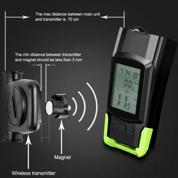 3-in-1 Bicycle Speedometer Rechargeable T6 LED Bike Light_13