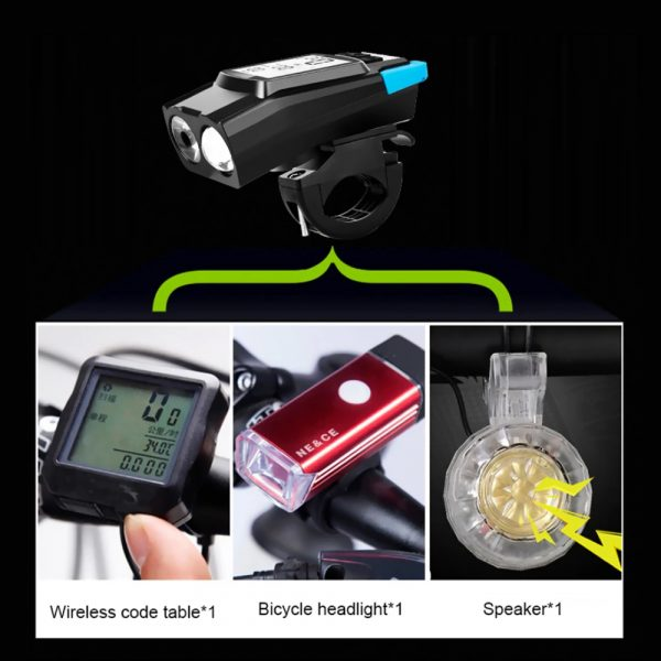 3-in-1 Bicycle Speedometer Rechargeable T6 LED Bike Light_8