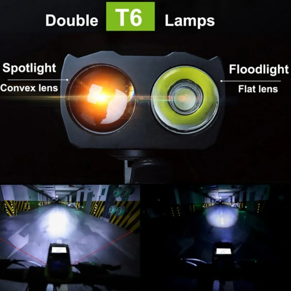3-in-1 Bicycle Speedometer Rechargeable T6 LED Bike Light_9