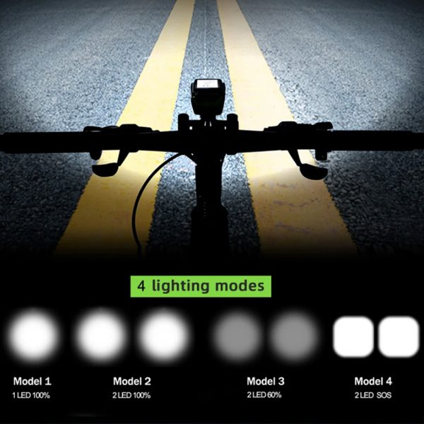 3-in-1 Bicycle Speedometer Rechargeable T6 LED Bike Light_10