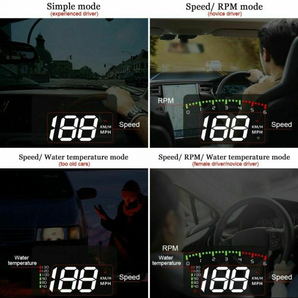 HUD Car Display Overs-speed Warning Projecting Data System_10