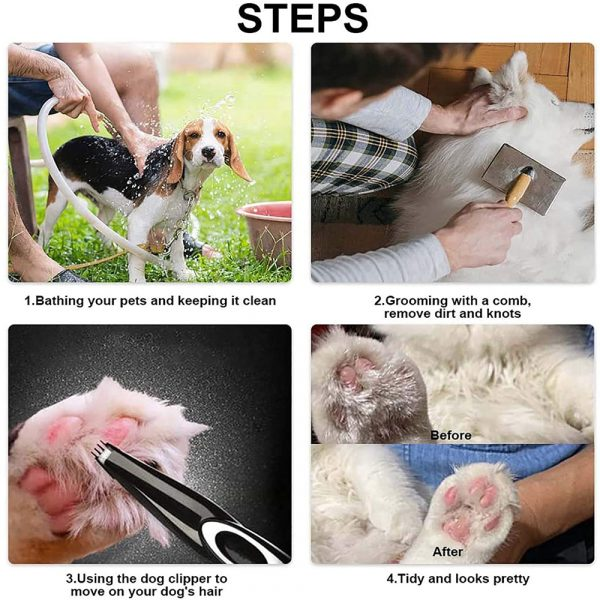 Electric Pet Hair Clipper and Trimmer Pet Grooming Tool_7