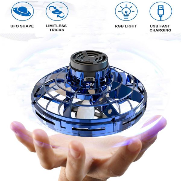 Interactive Flying Gyro Decompression UFO Children's Toy_12