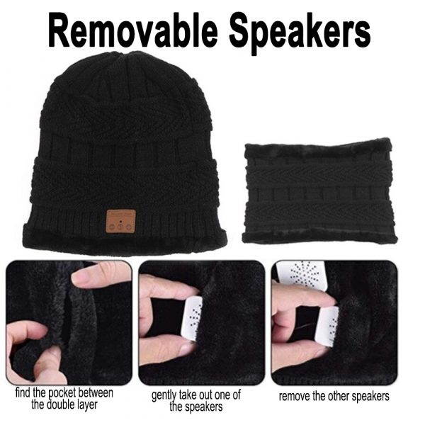 Wireless Bluetooth Musical Knitted Wearable Washable Hat_11