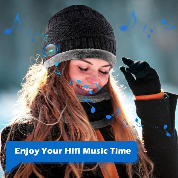 Wireless Bluetooth Musical Knitted Wearable Washable Hat_3
