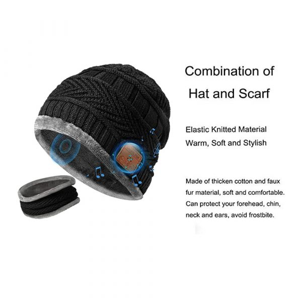 Wireless Bluetooth Musical Knitted Wearable Washable Hat_5