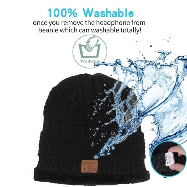 Wireless Bluetooth Musical Knitted Wearable Washable Hat_7