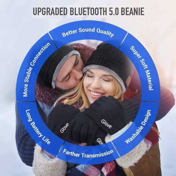Wireless Bluetooth Musical Knitted Wearable Washable Hat_8