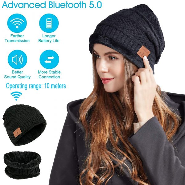 Wireless Bluetooth Musical Knitted Wearable Washable Hat_10