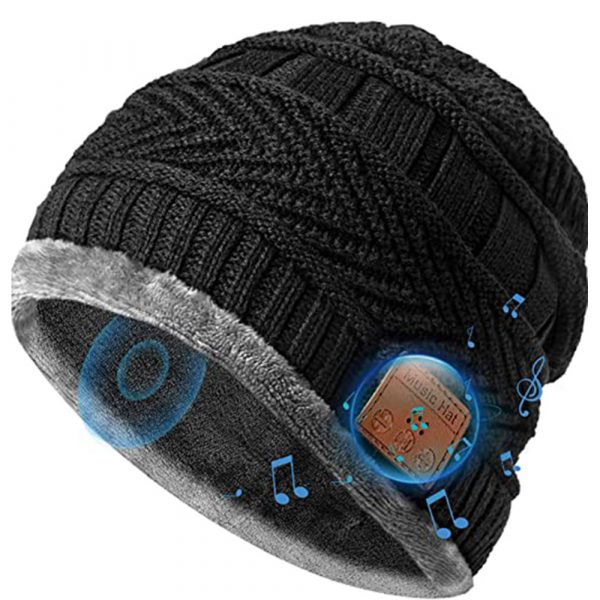 Wireless Bluetooth Musical Knitted Wearable Washable Hat_2