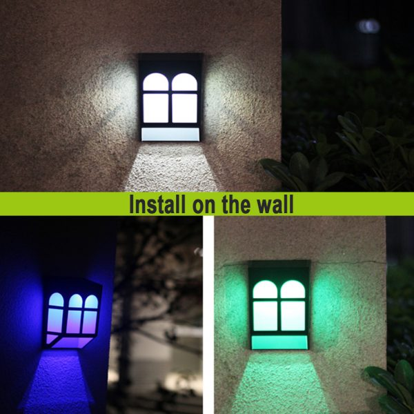 7 Light Colors Solar Powered Outdoor LED Fence Lights_8