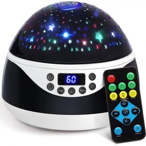 Rotating Projector Night Light with Music for Children's Bedroom