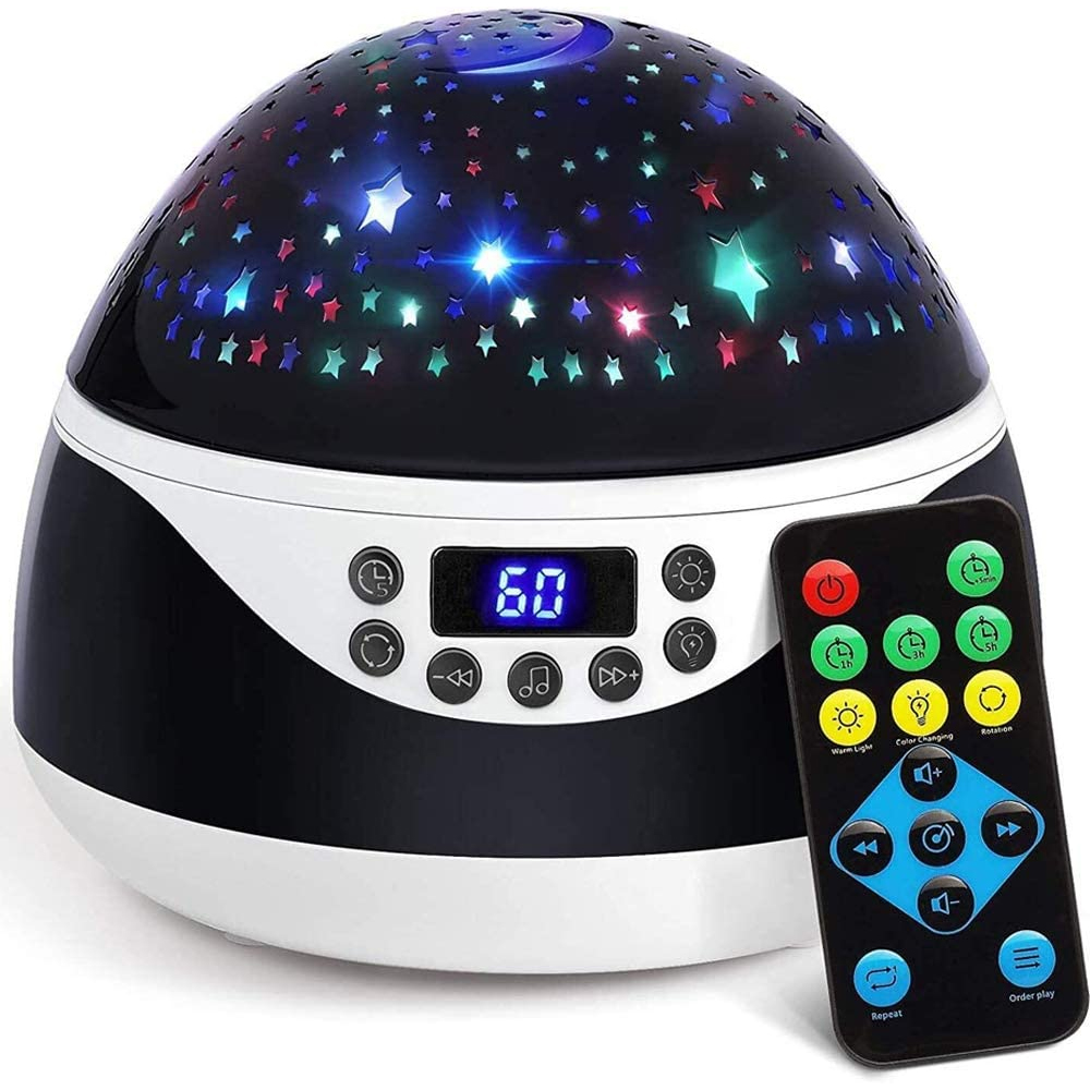 Rotating Projector Night Light with Music for Children's Bedroom_0