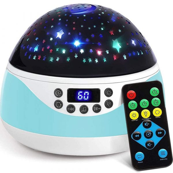 Rotating Projector Night Light with Music for Children's Bedroom_1