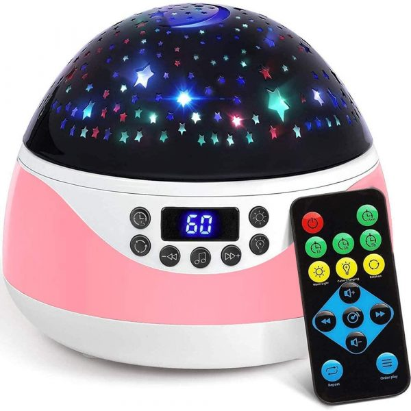 Rotating Projector Night Light with Music for Children's Bedroom_2