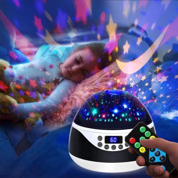 Rotating Projector Night Light with Music for Children's Bedroom_5